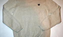 """New with Tags ?Crewneck Knit Size XL: Chest - 49"""", Length - 28"""", Sleeve - 27"""" ?Embroidered Logo on the upper right chest ?Premium weight ?Color - Light Beige ?Made of 100% Cotton"""