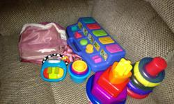 Baby toys in good condition need to get rid of ASAP Purse in excellent condition..don't need it anymore asking for $10