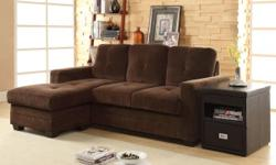 """New Chenille modern small sectional for $375.00. Chaise: 48"""" x 30"""" x 35""""H and 2-Seat Sofa: 72"""" x 34"""" x 35""""H. ((( Free door to door delivery))). Set looks jus tlike the attached pictures but is new in the original factory packing. Serious people please"""