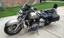 2006 Yamaha V-Star 1100, lots of extras, very sharp, 1 owner, 11,600 miles. Comfortable for cruising or just a short ride. Color is sand/silver. Hard Krome pipes.