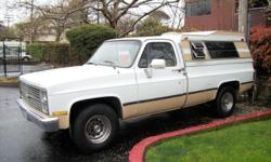 89 3/4 chev camper special truck/ase is