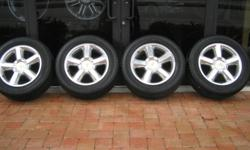 New set of 4 Chevy Tahoe 20 inch Polished Wheels and Tire Packag Please look below for other vehicle fitment. The wheels are brand new and have never been mounted onto a vehicle The Tires are Brand new as well and get mounted at time of purchase Fitment: