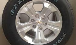 """CHEVY 18"""" WHEELS WITH 265/65/18 GOODYEAR WRANGLERS! FLAWLESS!! ((($995)))  ALSO IN STOCK NEW AND USED WHEEL AND TIRE PULL OFFS FOR CHEVY TRUCKS,CAMARO,CORVETTE,FORD TRUCKS,MUSTANG,DODGE RAM,CHARGER,CHALLENGER,JEEP"""