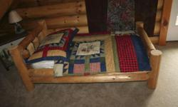 2 Baby or Small Child Log Beds at $200 Each. Have new Crib Mattress for each.