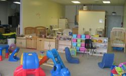 Child Development Center Closed selling used equipment: Chairs $10.00 each cots $ 14.00 each Tables $ 65:00 each shevles $75.00 each wash , rinse, sanitaze sink for $ 75.00 New Licensing Cribs $ 150.00 each Overhead projectors $ 35.00 each changing table