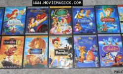 We just opened our online web site and were having a grand opening sales event all Walt Disney dvds on sale going on now! upto 40% off come check us out! All brand new DVDs New arrivals! Fast Shipping! visit us online at www.moviemagick.com Aladdin -