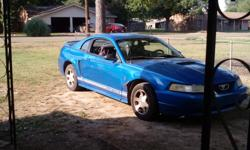 2000 Ford Mustang Coupe 2 Dr good condition. Low mileage. One previous owner. Needs some body work. Needs tune up. Has 2 new tires. Price negotiable. For more info call Serena Griffin @ 6625222967 or 6622191814.