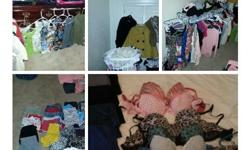 I have all sorts of clothes...from dress to shoes and shorts and scrubs i have pictures if you want and im home the next two days if you wanna come and check out what i have nothing is over 20.00 so text me and let me know 210-725-3184