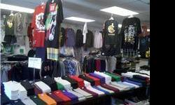 Clothing Store (Sacramento) ? Inventory and fixtures for Sale - Take all (Clothing, hats, shoes, accessories, etc. 6 tables, 4 racks, 2 glass display counters, and more). (909) 206-7337