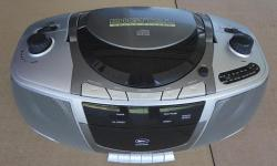 Original owner. Rarely used. Literally like new. Never used batteries. CD player still has original labels. Absolutely no damage. PRODUCT FEATURES: Top Loading Compact Disc Player; Programmable Track Memory; 1 Bit D/A Converter;Play/Pause, Search, Repeat
