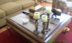 exellent condition bevel glass coffee table