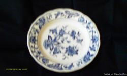 blue collectable plate sold as is $20 you pick it up
