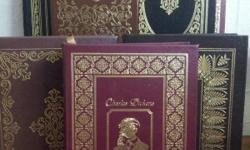 32 Easton Press Collector's Editions of the 100 Greatest Books Ever Written collection Excellent Condition Beautiful Leather Bound, Gold Designs Titles: Grimm's Fairy Tale Republic Plato Faust Goethe Canterbury Tales Iliad Homer Paradise Lost Crime and