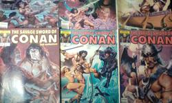 Conan  //  18 Comic Books  //  Marvel Comics  //  $20.00 for all  //   Condition: Like New-Very Good-Good Conan The Barbarian: Annual Issue #6  / 1981 --------------------- Conan:The Legend Issue #0