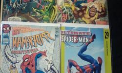 10  Spiderman Comic Books (Marvel) //  $20.00 for all 10  //   Condition: Like New-Very Good-Good-Fair Spiderman Adventures Issue #14 / Jan. 1996 -------------------------------------------------------- Marvel Team-Up: