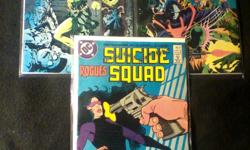 Sucide Squad //  DC Comics  // 9 Comic Books  // $20.00 for all  // Condition: Very Good Issue #9 - Jan. 1988 Issue #11 - Mar. 1988 Issue #17 - Sept. 1988 Issue #21 -  1988 Issue #25 - Mar. 1989 Issue #26 - April 1989 Issue #27 -