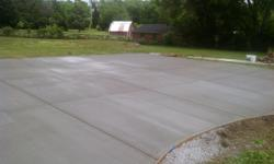 slabs, driveways,steps, garages, stamped concrete and more