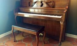 1992 Kimball Console Piano and bench - Excellent Condition!  Beautiful pecan finish! It's a must see!!