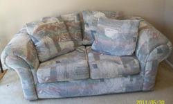 Good condition, very comfortable loveseat by Jennifer convertibles, southwest motif, sacrifice due to move 70.00/obo