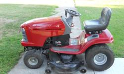 """48"""" deck with a 25HP V-twin Briggs & Stratton Hydrostatic trans, new battery. cash or Paypal Leave message 507-383-8139"""