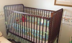Nice looking baby crib for sale,comes with mattress.Great for grandkids or as second crib