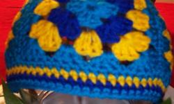 Keep out the winter chill in style with a granny square hat Assorted Colors  Made of worsted acrylic. Easy washing! Great for fall and winter! One size fits all! Crochet acrylic worsted For these and more go to: