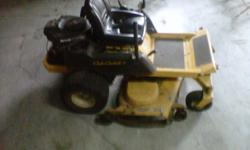 """Z-turn 50"""" deck 22 HP mower. I also have a Husky 54"""" deck 25 HPthat needs a drive belt and battery that I will include. give me a call at 317-590-2699 Jeff"""