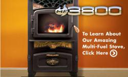 45000 BTU's; 55lb hopper burns up to 36 hours; Will heat up to 2200 sq.ft.; No agitator to get gummed up; Burns pellets, corn, cherry pits, any biofuel w/o changing pots; More safety features than any other stoves on the market; Easy to clean, maintain,