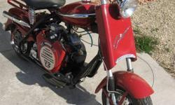 reconstructed 1958 model 758 motor scooter frame ID number 120504-2 Vendor....Sam Kerley Vendor....Carpenter Industries