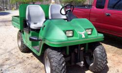 1999 Cushman Hawk, 48 volt battery system. This would be a great maintenance vehicle or for use on the farm, it is quiet. This vehicle has a 800 lb payload capacity, steel pick up bed that tilts up. $3800. call 864-848-7897. or trade for nice golf cart