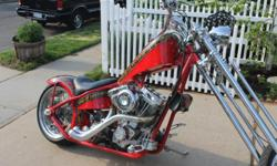 2004 Custom Rigid Chopper (Detriot Frame) Aggressor Motorcycle from Precision Motor Cycle Works. 96 SS Motor, American Springer Suspension and Front Caliper, Custom Paint, Flame Thrower Exhaust, A Must See, OBO....