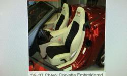 Custom Made Seat Covers - Fit 05-07 Chevy Corvette Two Tone Seat Cover Khaki Protect Your NEW Car Seats or cover up your Worn Looking Seats Call Danny @ 800-441-3274 for Assistance or to place your Custom Order Today ! Dashcovers Plus Depot 5450 S State