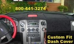 Custom Fit Dash Cover fits Ford F150 Black Suede or available in Polyester Carpet or Velour Cover Up that worn out looking dash board Call Danny @ 800-441-3274 for assistance or to place an order We offer Custom Fit Dash Covers for MOST Cars,