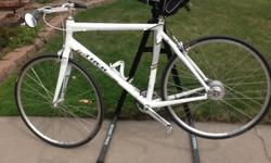 For sale, custom, one of a kind, 9 speed urban/hybrid or by changing the rear wheel a fixed gear bicycle. Inspired by the late Sheldon Brown, http://sheldonbrown.com/home.html this one of a kind bicycle began started life as a 2010 Trek 3rd District