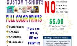 Sacramento Apparel Printing is a Direct to Garmet printing service!!! CUSTOM T-shirts for any event, *fUNDRAISERS *SCHOOL TEAMS *FAMILY REUNIONS *ANYTHING YOU WANT/NEED A SHIRT FOR, WE GOT IT! DESIGN IT ANY WAY YOU WANT AND LET US PRINT YOUR JOB! NO