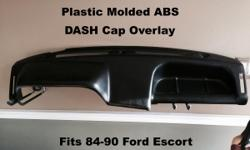 Plastic Molded Dash Cap Overlay Fits 84-90 Ford Escort ( CPE - EXP - Wagon ) Glue this right over your original DASH Board Make it look like NEW Again Call Danny 954-961-7774 Dashcovers Plus Depot 5450 S State Road 7 Davie, Florida 33314 /