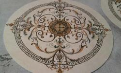 Water Jet FLOOR MEDALLIONS Floor medallions add elegance and formality to rooms, bathrooms, foyers and entryways. Personalize and distinguish your home with a stunning, marble, water jet cut design floor medallion and bask in the compliments given to this