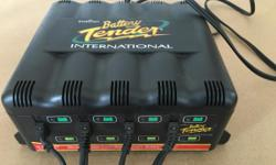Lightly used Deltran slow charge/ maintain charge bettery tender.  Considered the best unit to keeping stored batteries topped up.  Good for slow (the best way) charge of run down batteries This unit handles up to FOUR BATTERIES AT ONCE Comes