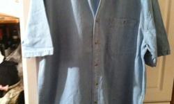 Going out of Business Mens Long or Short Denim Shirts  All sizes Light or dark denim