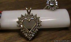 I have a diamond and 14k yellow gold heart pendant and a diamond and 14K white gold ring....they were my mothers....pendant has 46 diamonds and ring has 15... $300/pendant....$400/ring....both for $600 text 530-720-2617 thanks