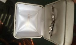 3 carot white gold diamond ring and diamond band