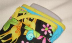 New handmane quick trip wipe/diaper pouch with changing pad. Great for a quick shopping trip, church, limited stay at grandmas or sitter. The cotton/poly pouch measures 9.5x6 and is flat - opens to hold travel size and 2 diapers. The changing pad is a