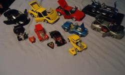 A great collection of diecast cars. All of these are in very good shape please email me at four_wheeling@hotmail.com