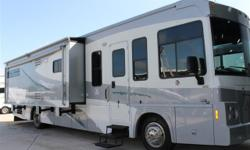 Here is a nice floor plan that has a lot of room. It is a 2008 Winnebago Latitude with only 7700 miles on it. For details call JR at 352 843 four four 36.