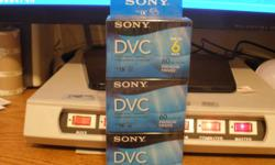 Sony DVC 60 min. 6 pack.  New never open !       (you pick up !)