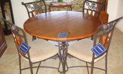 Round 48 inch table and 4 chaires by Ashley. The table and chaires are in VGC. The set new was over $700.00 asking$370.00 or BO. Cash on pick up.