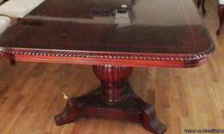 beautiful dining room set table with 10 chairs, like new no damage excellent condition handmade mahogany wood Imported from Hungary, original price $20.000, my price $6000.00