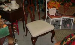 Twochairs, very sturdy and ornate. Seee them at D&D Antiques Located in historic Seminole Heights 4709 N. Florida Ave. (corner of Fl/Osborne) Tampa, Fl 33603 -- Hours 11ish - 6 Tuesday - Friday 11ish - 4 Saturday 12ish - 4 Sunday