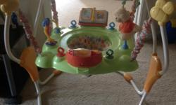 Hi Everyone ! We buyed this lovely winnie pooh with his friends theme bouncer for our son. he loved it. its pretty new. No spot no scrap fabric is mentained. great deal to buy. we buyes it from babies r us. its great thing to have for little one to keep