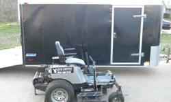 """DIXIE CHOPPER SIVLER EAGLE 50"""" WITH A 6'X12' TRAILER READY TO GO!THIS MOWER IS IN EXCELLENT SHAPE AND READY TO MOW. LOW HOURS, KEPT INSIDE, THIS IS GREAT PACKAGE DEAL! WITH FREE NEW BLADES!"""